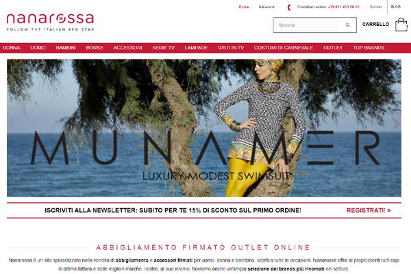 Il negozio online Nanarossa