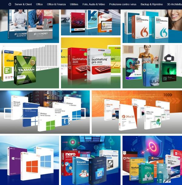 grande varietà di software