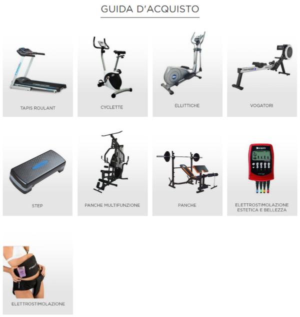 guida d'acquisto ai prodotti proposti su Fitness Boutique