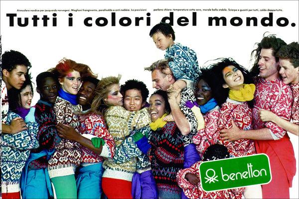 la famosa campagna tutti i colori del mondo