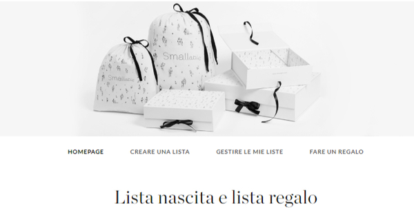 creare una lista nascita e lista regalo su Smallable.com